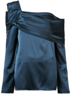 draped one shoulder top Baja East
