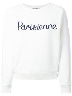 толстовка с принтом Parisienne  Maison Kitsuné