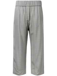укороченные клетчатые брюки Alberto Biani