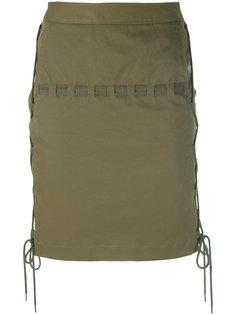 мини-юбка с веревочной отделкой Chalayan