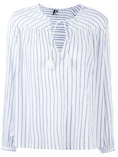 полосатая блузка с кисточками Woolrich