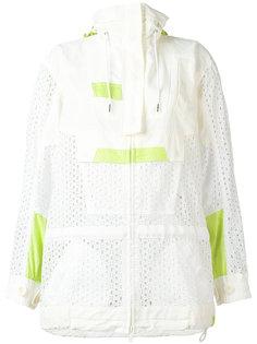 eyelet lace cagoule style jacket Sacai