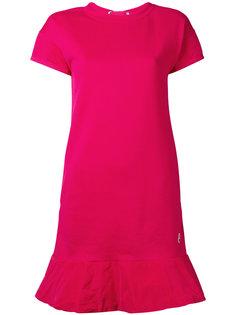 платье-футболка с расклешенным подолом Moncler