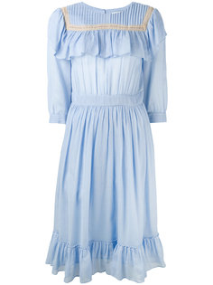 ruffled bib dress Masscob