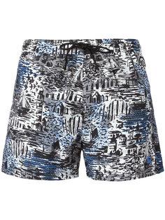 шорты для плавания с рисунком Burberry