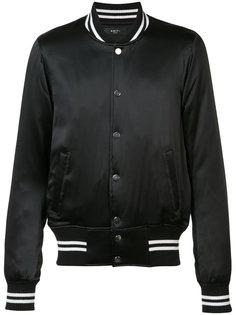 satin bomber jacket Amiri