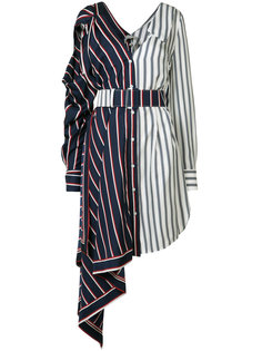 striped asymmetrical dress Monse