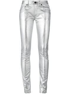 metallic super skinny trousers Off-White