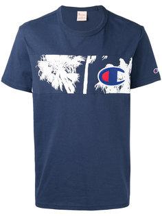 футболка со вставкой с пальмами Champion