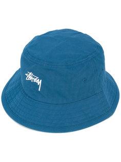 logo embossed hat Stussy