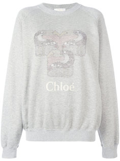 толстовка с логотипом Chloé