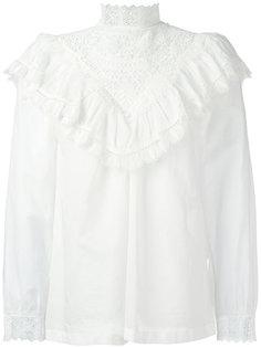 блузка с вышивкой и оборками Masscob