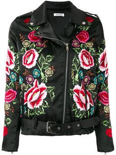 куртка с вышитыми цветами P.A.R.O.S.H.