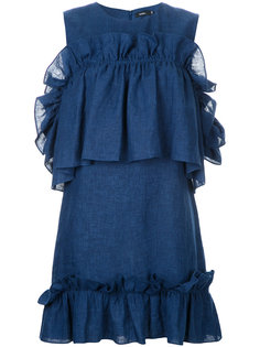 короткое платье с оборками Goen.J