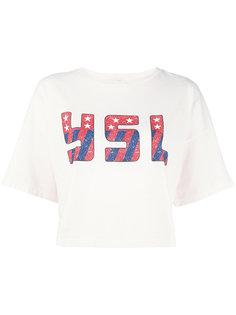 футболка с фирменным принтом Saint Laurent