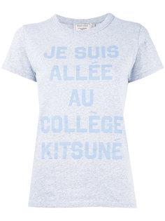 футболка со слоганом Maison Kitsuné