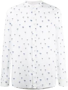 рубашка с узором из пальм Paolo Pecora