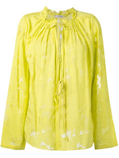 прозрачная блузка с вырезом на завязках Dorothee Schumacher