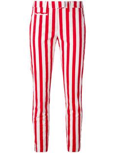 укороченные брюки в полоску Dondup