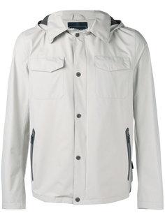 куртка на кнопках с капюшоном Herno