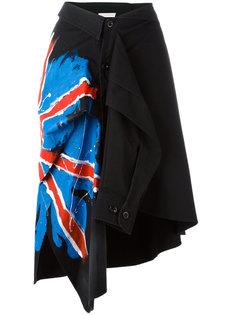 flag print shirt skirt Faith Connexion