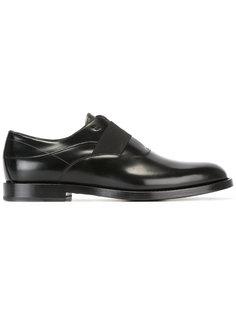 ботинки-оксфорды с эластичной планкой Fendi
