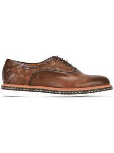 ботинки-дерби с плетеной отделкой Santoni