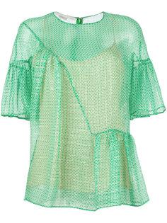 блузка с узором Stella McCartney