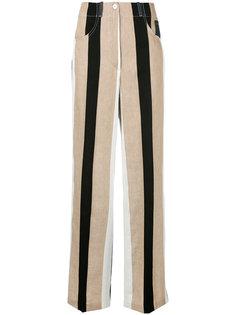 полосатые расклешенные брюки  Dondup