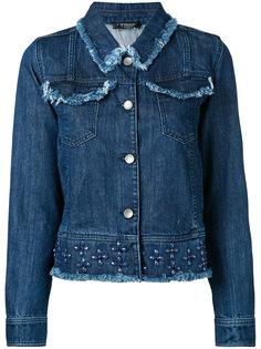 джинсовая куртка с отделкой заклепками Twin-Set