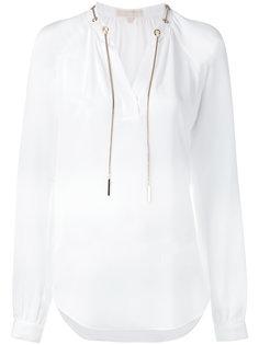 блузка с завязками на шее Michael Michael Kors