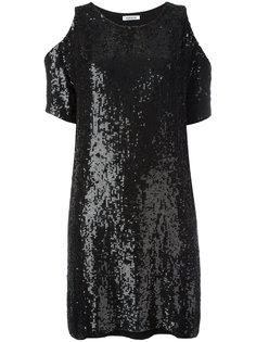 платье с вырезами на плечах и пайетками P.A.R.O.S.H.