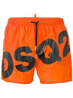 шорты для плавания с диагональным логотипом Dsquared2