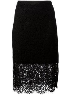 sheer lace pencil skirt Diane Von Furstenberg