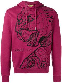 tiger print hooded sweatshirt Versace Jeans