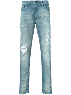 distressed denim jeans John Elliott