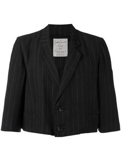 striped cropped blazer Yohji Yamamoto Vintage