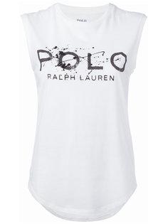 футболка с принтом-логотипом Polo Ralph Lauren