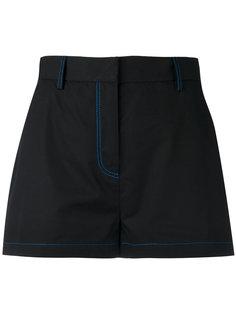 шорты с простроченной отделкой MSGM