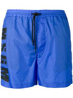 спортивные шорты с принтом-логотипом MSGM