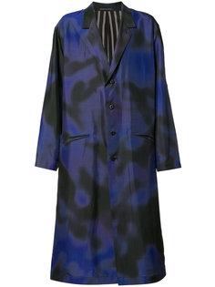 Back Print Coat Yohji Yamamoto