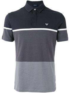 футболка-поло в стиле колор блок Armani Jeans
