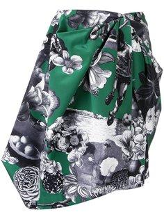 асимметричная юбка с принтом MSGM