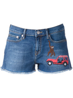 embroidered denim shorts Mira Mikati