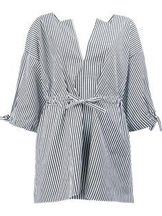 полосатая блузка с завязками на талии Maison Rabih Kayrouz