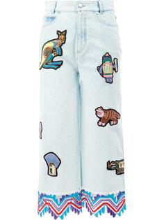 укороченные джинсы с заплатками Peter Pilotto