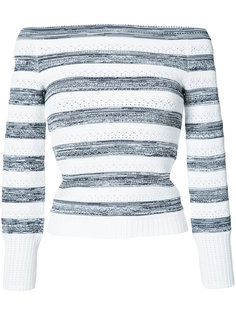 off-shoulder striped jumper Oscar de la Renta