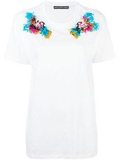 embroidered shoulder T-shirt  Marco Bologna