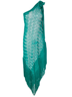 асимметричное платье с бахромой Missoni