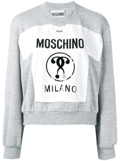 толстовка с нашивкой Milano Moschino
